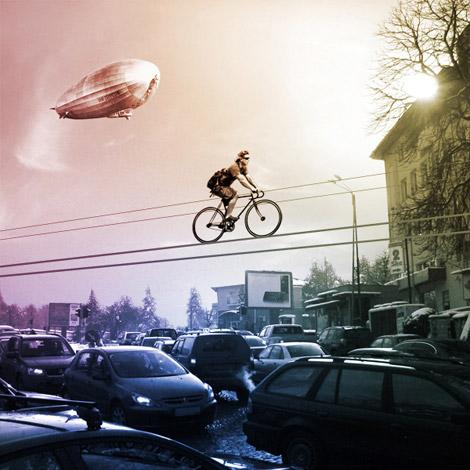 kolelinia bike on wire